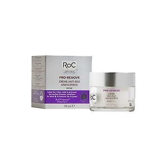 RoC Pro Renove Anti Ageing Unifying Cream 50ml Smoothes and Improves Skin Texture