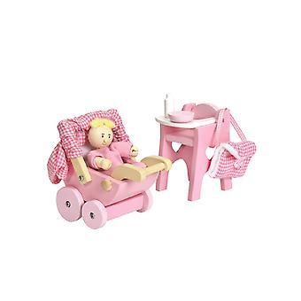Le toy van - casa de bonecas de madeira casa jogo de berçário para casas de bonecas | daisylane bonecas casa móveis s