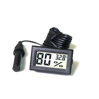 Ytian lcd numérique mini thermomètre intégré hygromètre température sonde mètre d'humidité pour re