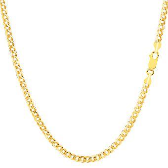 10 k gul guld komfort bremse kæde halskæde, 2,6 mm