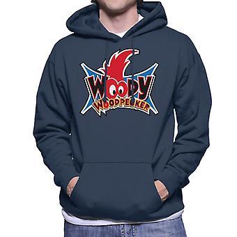 Woody Woodpecker Ojos Logo Hombres's Sudadera con capucha