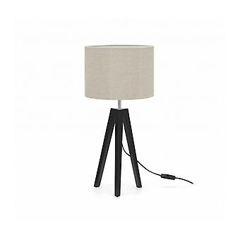 Lunden Table Lamp Black And Beige 1 Light