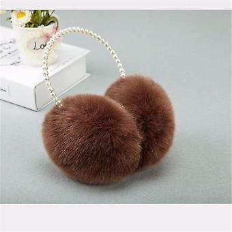1pc Novelty Pearl Winter Earmuffs, Imitation Rabbit Plush Warm Ear Muff