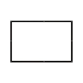 JMGO 100 Inch Simple Curtain White Plastic 16:9 Projector Screen Portable Ready-To-Use