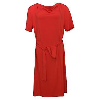 بروك SHIELDS فستان الخالدة قصيرة الأكمام متماسكة اللباس مع ربطة عنق حمراء A374420