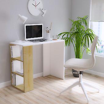 Pink White Desk, Melamine Trucilar Oak, L90xP40xA75 cm