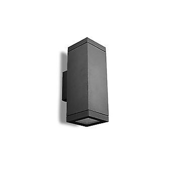 Lámpara De Pared Afrodita E27, Aluminio Y Vidrio, Gris Urbano