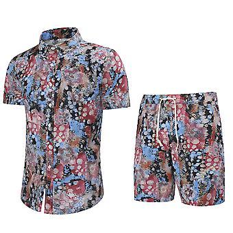 YANGFAN Homme & s Imprimé Short-sleeved Shirt Set