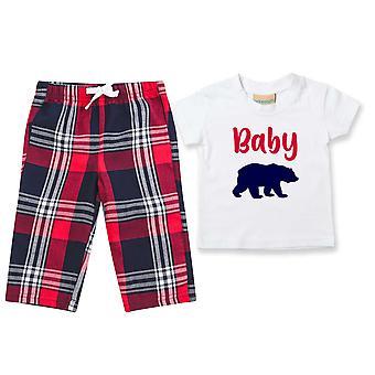 Kinder Baby Bär Tartan Hose Pyjamas