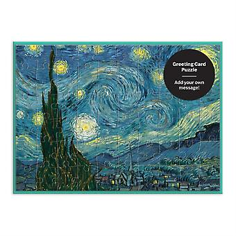 MoMA Starry Night Greeting Card Puzzle by By artist Vincent Van Gogh & Created by Galison
