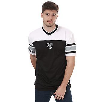 Menns nye æra overdimensjonert eller mesh t-skjorte i svart