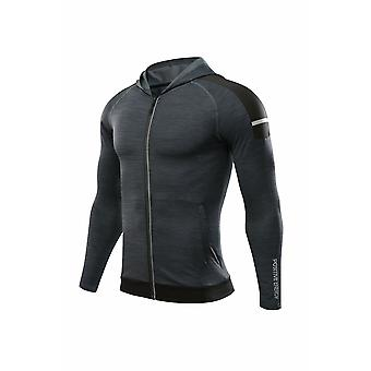 Men's Reflective Print Running Jackets Fitness Sports Gym Training Jackets