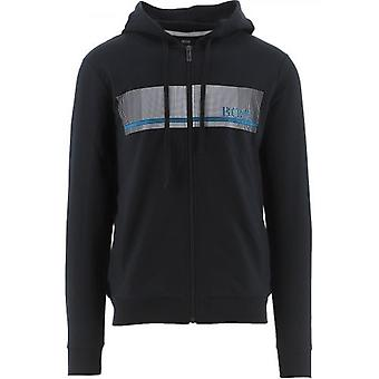BOSS Navy Authentic Hooded Sweatshirt