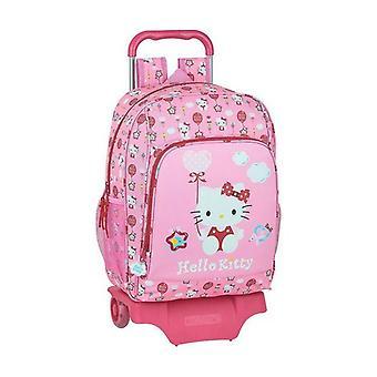 Zaino scolastico con ruote 905 Hello Kitty Palloncino Rosa