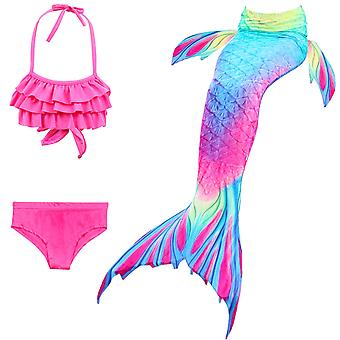 حورية البحر فتاة ملابس السباحة ثلاث قطع بيكيني الذيل للسباحة tscs-12