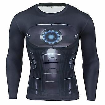 Panther 3d T-shirt, Men Tights Running Shirt