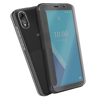 Back cover for Wiko Y51 Flip Translucent Touch Smart - Grey