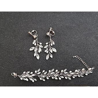 Handmade Freshwater Pearls Austrian Crystal Bridal Jewelry Set