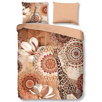 rivkah duvet cover 140 x 220 cm cotton/satin copper