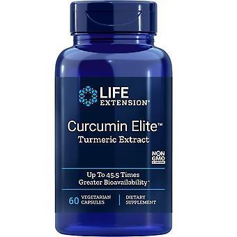 Extensão de vida Curcumin Elite Extrato de Cúrcuma Vegicaps 60
