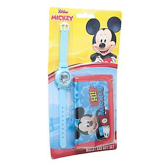 Mickey Mouse Kids/Childrens Hi Mickey Watch And Wallet Set
