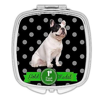 Gift Compact Mirror: French Bulldog Polka Dots Pet