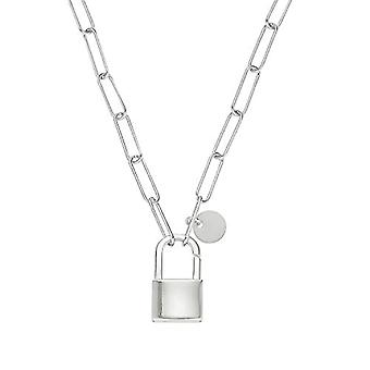 NOELANI Necklace with women's pendant, in Sterling 925 silver, with castle