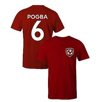 Paul Pogba 6 klub stil spiller fodbold t-shirt