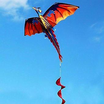 Drak drake med svans, vuxna flygande drakar, familj utomhus sportleksak för, barn