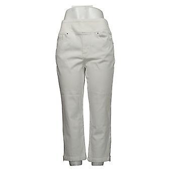 Belle af Kim Grus Kvinders Bukser Pull On Beskåret Jeans White A301822