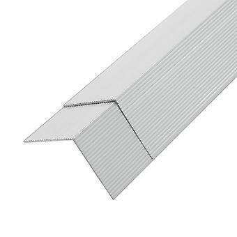 vidaXL 5 pezzi. rivestimento angolo rivestimento alluminio 170 cm argento