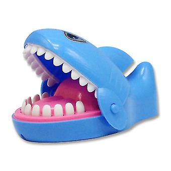 Blue tricky bite hand shark desktop decompression game toy x3581