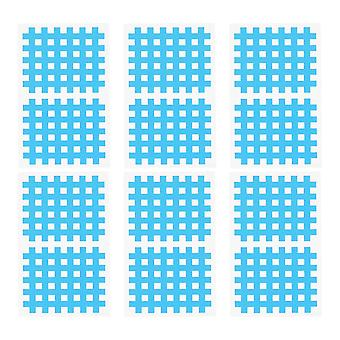 10X6cm sky blue 20 sheets simple muscle stickers adhesive sportstape cross-shaped pastes muscle cloth patch for man woman (sky blue) dt3294