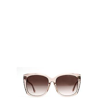 Bottega Veneta BV0182S şeffaf pembe kadın güneş gözlüğü