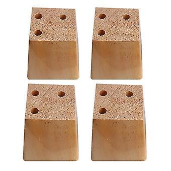 ل4pcs الخشب شبه منحرف الأثاث القدم القدم القدم القدم 7.5 * 6 * 8cm WS2904