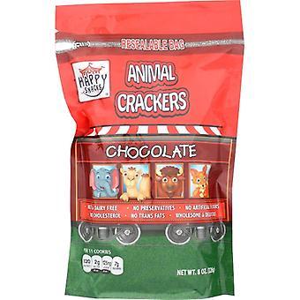 Happy Snacks Cracker Chocol Animal Nat, Case of 6 X 8 Oz