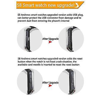 Zgpax S8 Bluetooth Inteligentny zegarek Mtk6572 Dwurdzeniowy telefon GPS Wifi Smartwatch