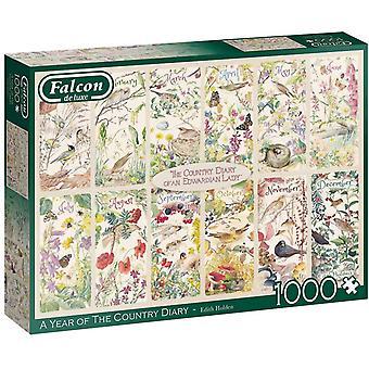 Falcon Deluxe Ett år av country dagbok pussel (1000 stycken)