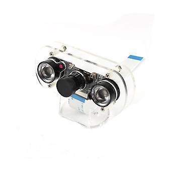Pi 4 Night Vision Fisheye Kamera, 5mp Ov5647, 130 asteen polttoväli säädettävä