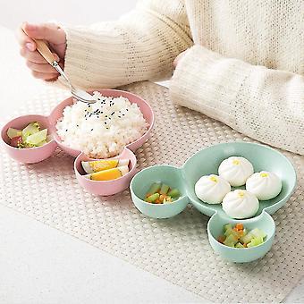 Cute Cartoon Appearance Dinner Plate Kids Cartoon Pattern Food Fruit Dish Tray