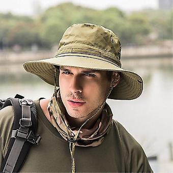 Women & Men Fashion Camping, Hunting, Fishing & Hiking Outdoor Sport Sun Caps(Khaki)