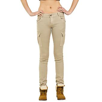 Slim Low Rise Cargo Trousers