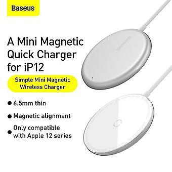 Valkoinen sopii iPhone 12 Pro Max Qi 15W PD nopea langaton induktiolevy laturi magneettinen