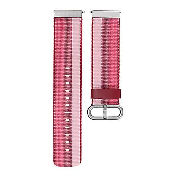 רצועת שעון חלופית רצועה צמיד ניילון לולאה עבור Fitbit ורסה ספורט לצפות צבע אדום