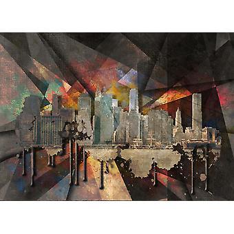 Veggmaleri New York Cityscape