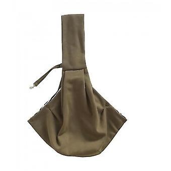 Pet Cotton Shoulder Bag Outing Messenger Bag Adjustable Padded Shoulder Strap(Beige)
