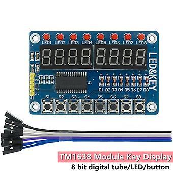 Accesorii circuit 2pcs tm1638 modul de afișare cheie pentru avr arduino nou 8-bit digital led tub 8-bit