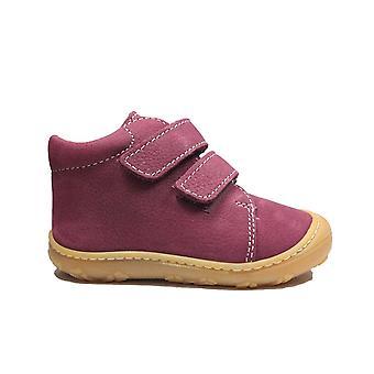 Ricosta Chrisy 1224000-360 Pink Leather Girls Rip Tape Pre Walker Botas