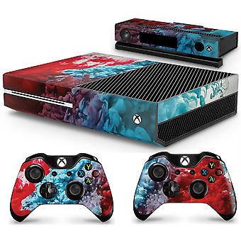 GNG Xbox COLOUR EXPLOSION Console Skin Decal Sticker + 2 Controller Skins compatible with Xbox One & Kinect