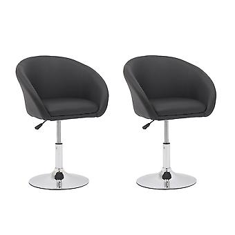 Bar Stools  Modern Square PU Leather Adjustable Bar Stools with Back,Set of 2,Counter Height Swivel Stool